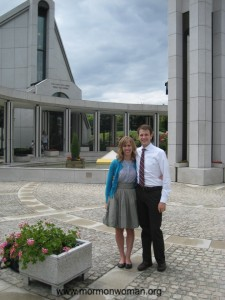Mormon Woman at Frankfurt, Germany Temple