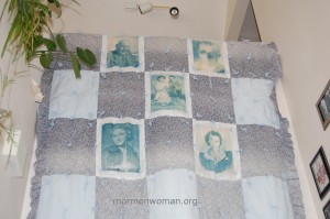 Old Mormon Family History Quilt