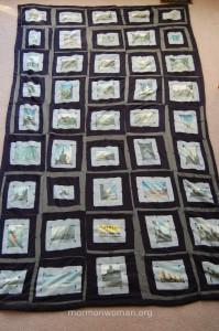 Mormon woman creates a travel quilt
