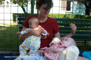 Mormon woman serving at orphanage in Romania