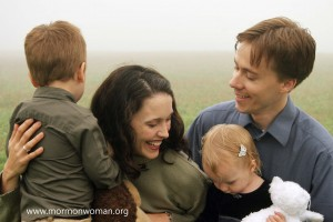 Mormon Woman and family