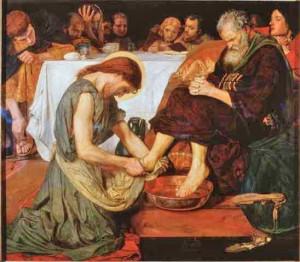 Jesus Washing Peter's Feet by Brown