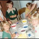 Mormon children enjoying a craft