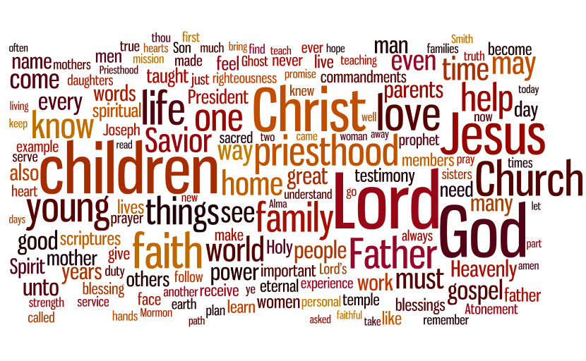 LDS General Conference topic cloud for April 2010