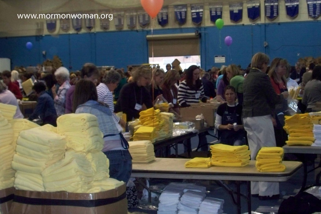 Mormon women participate in service projects at BYU Women's Conference