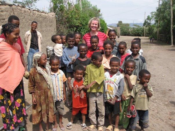 Mormon woman helps children in Africa