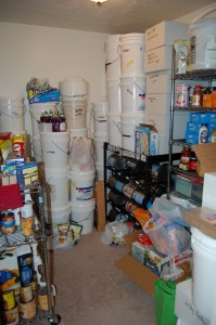 LDS food storage room