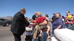 Mormon prophet with children