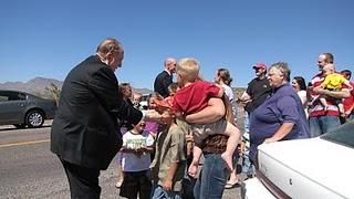 Mormon prophet with children