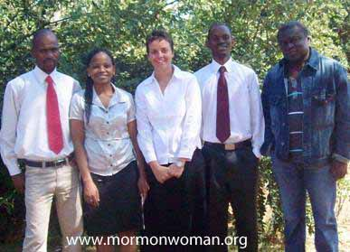 first sacrament meeting in Botswana