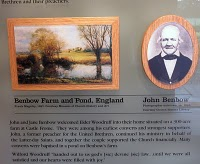 John Benbow plague in Gadfield Elm Chapel visitor centre center