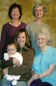 women and legacy of faith across five generations