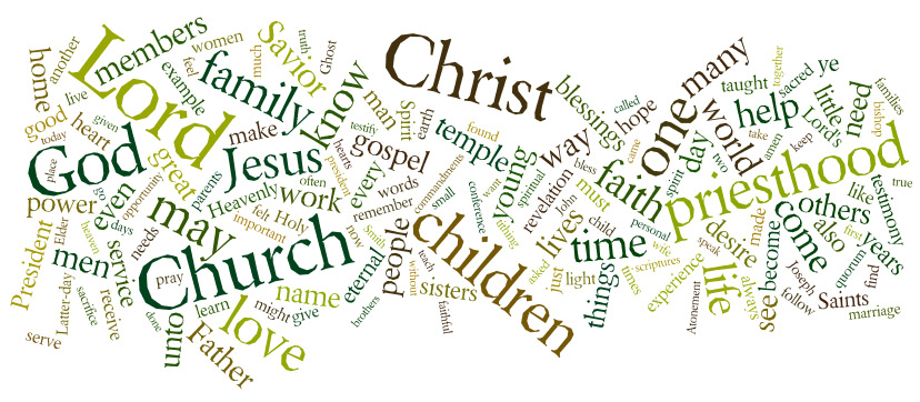 LDS General Conference Transcripts, Wordles, Highlights ...