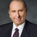 President Thomas S. Monson speaks at BYU devotional