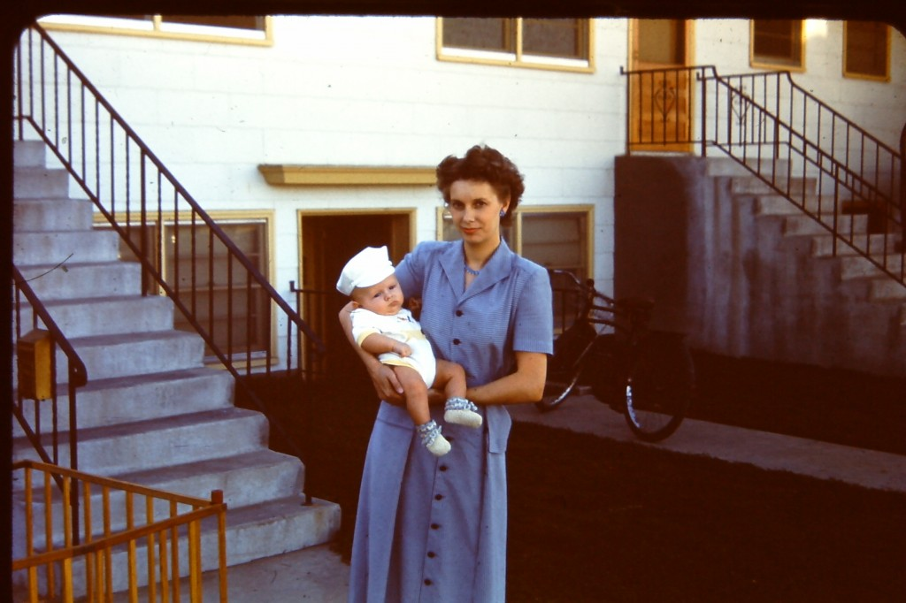Lee Tom Perry as an infant in his mother's arms