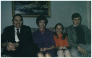 L. Tom Perry with wife and two of three children in 1972
