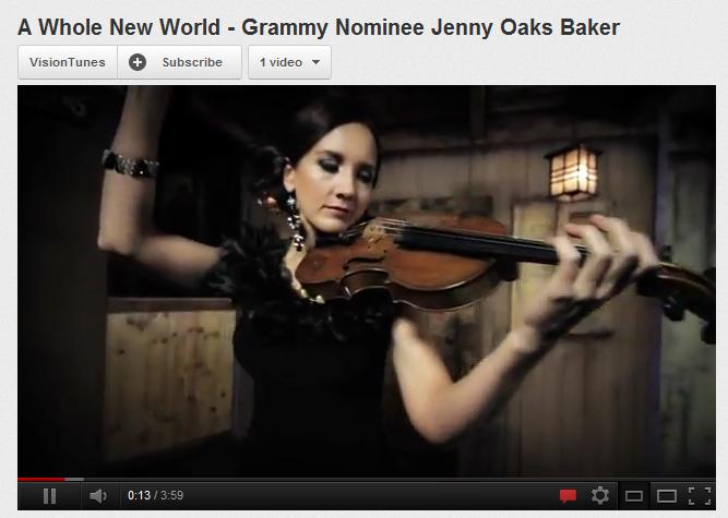 Mormon woman Jenny Oaks Baker violin Grammy