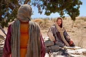 Jesus and woman of Samaria