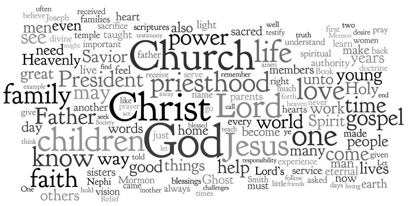 LDS General Conference wordle april 2012 Mormon prophets