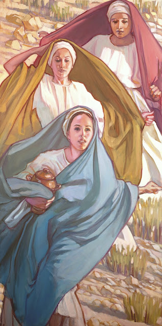 Mormon woman artist Easter painting