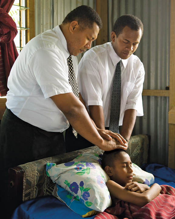 Mormon priesthood blessings laying on of hands healing the sick