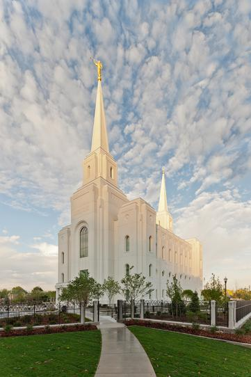 Mormon temple in Brigham City Utah