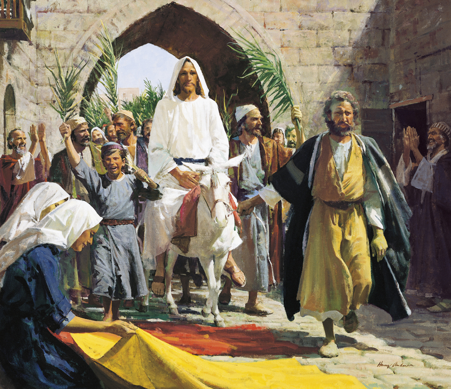 Hosanna! Triumphal entry of Jesus Palm Sunday