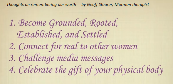 remembering our worth by Geoff Steurer Mormon therapist