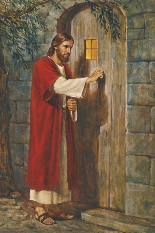 Jesus at the door knocking
