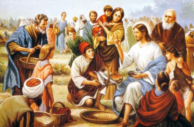 Loaves and fishes - Jesus feeding the 5000