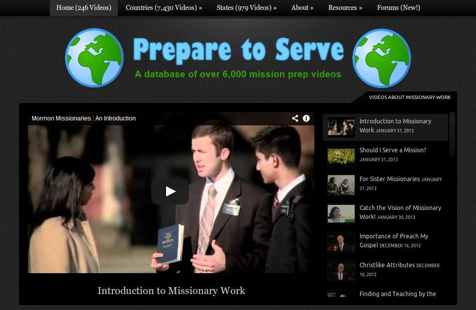 Mormon missionary prep videos