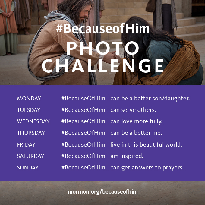 #BecauseofHim daily photo challenge
