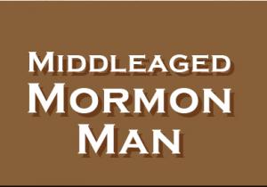 logo middle aged mormon man