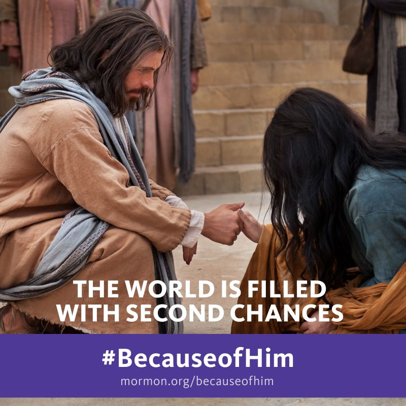 Because of Jesus Christ, second chances are possible.