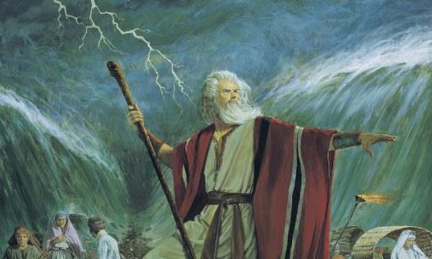 How did Moses part the Red Sea?